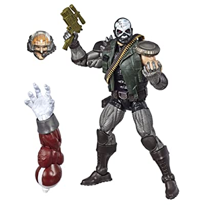 "Marvel Hasbro Legends Series 6"" Collectible Action Figure Skullbuster Toy (X-Men Collection) – with Caliban Build-A-Figure Part: Toys & Games"