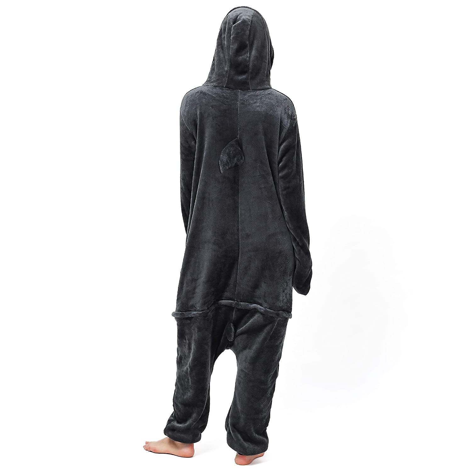 Body Height 145-155cm Katara 1744 Animal Onesie Unisex Pyjamas Adults Teenagers Black Shark 10+ Designs