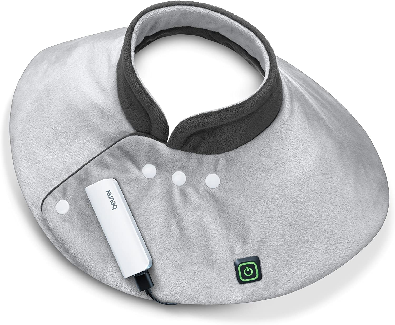 Beurer Portable Shoulder Heating Wrap, 2 Hours of Cordless Heat, Extra Soft Surface, Skin Friendly, for Indoor and Outdoor Use, HK57