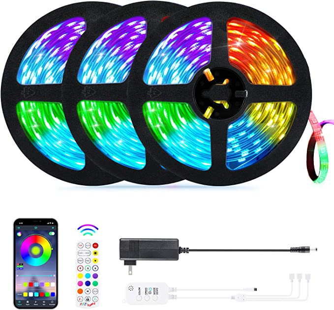 ihocon: OxyLED 50ft Led Strip Lights with App Control, Remote, Music Sync Color Changing 音樂同步彩色燈條