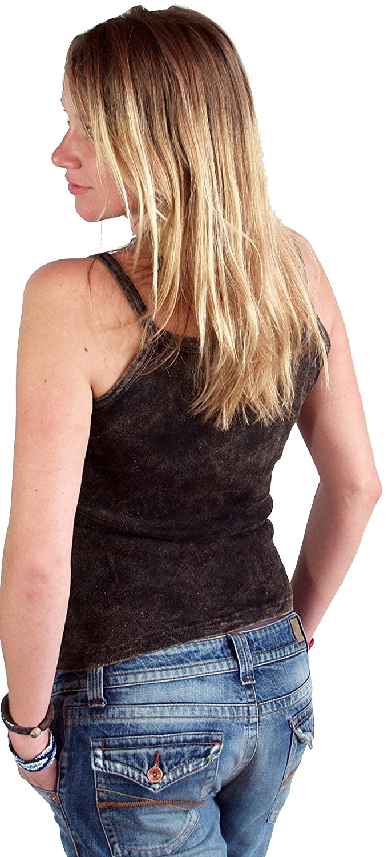 algod/ón abdomen sin abdomen mujer Guru-Shop Choli Top Goa-chic Tops /& camisetas alternativa ropa