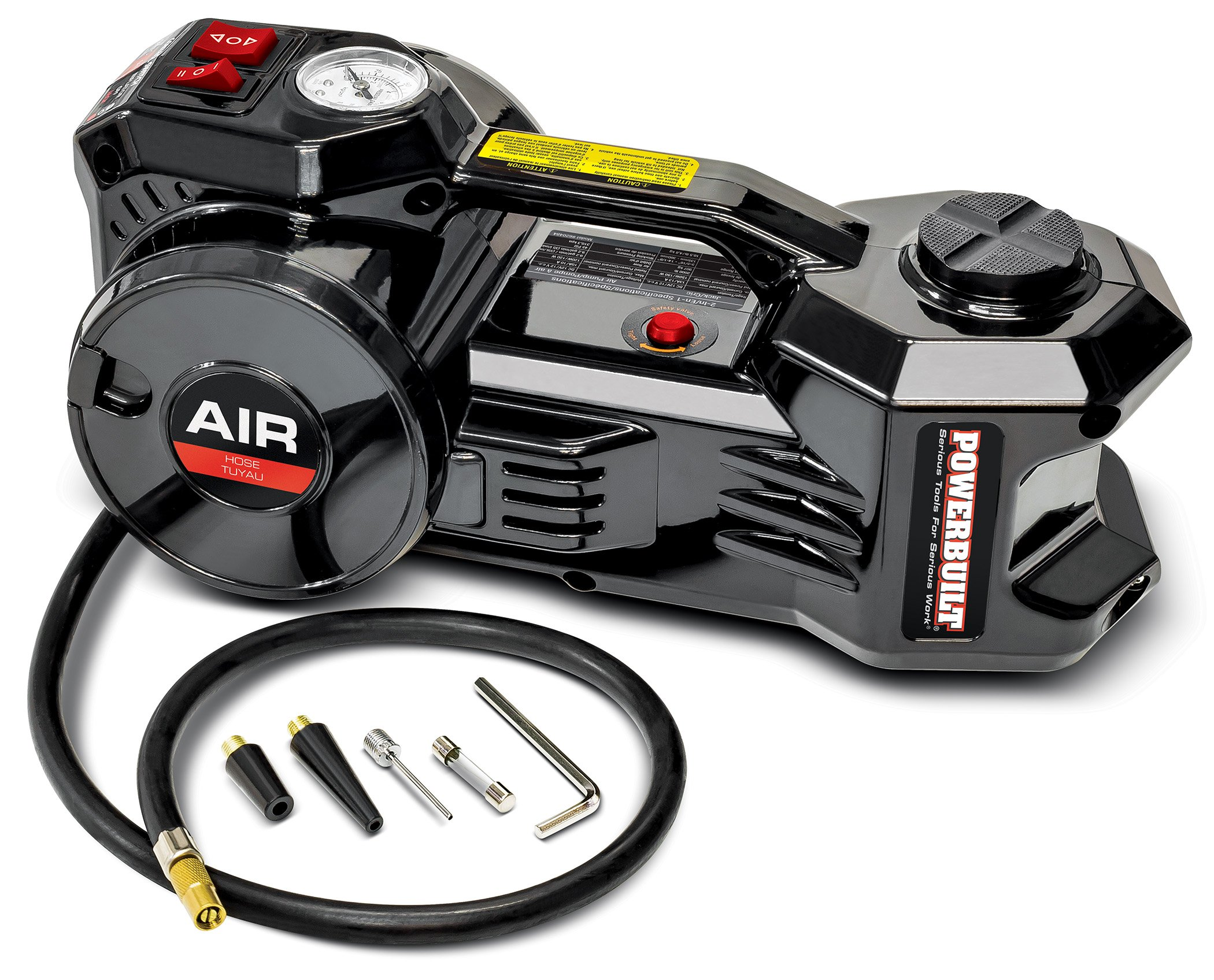 Powerbuilt 620484 12V Electric Jack and Tire inflator