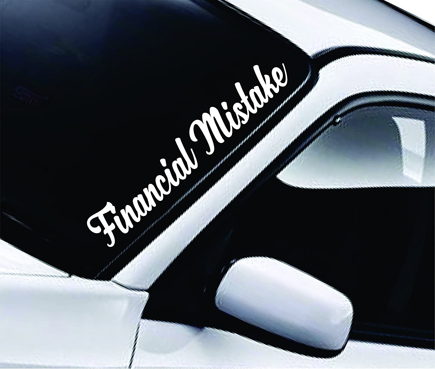 Amazon com financial mistake large quote design sticker vinyl art words decor car truck jdm windshield race drift window home kitchen
