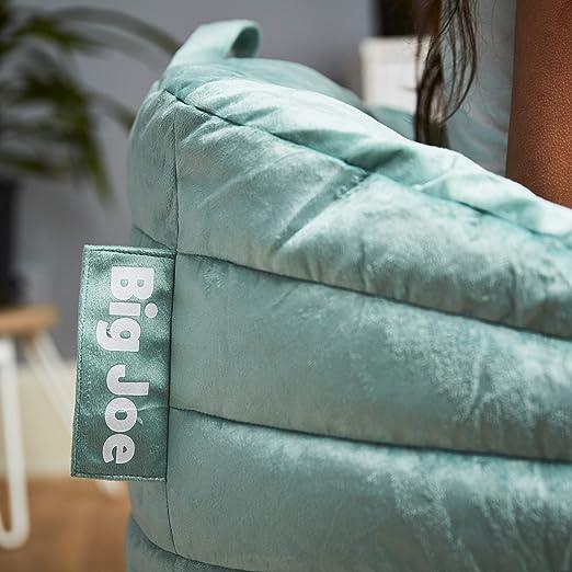 Amazon.com: Big Joe 0680562 - Puf de peluche, color turquesa ...
