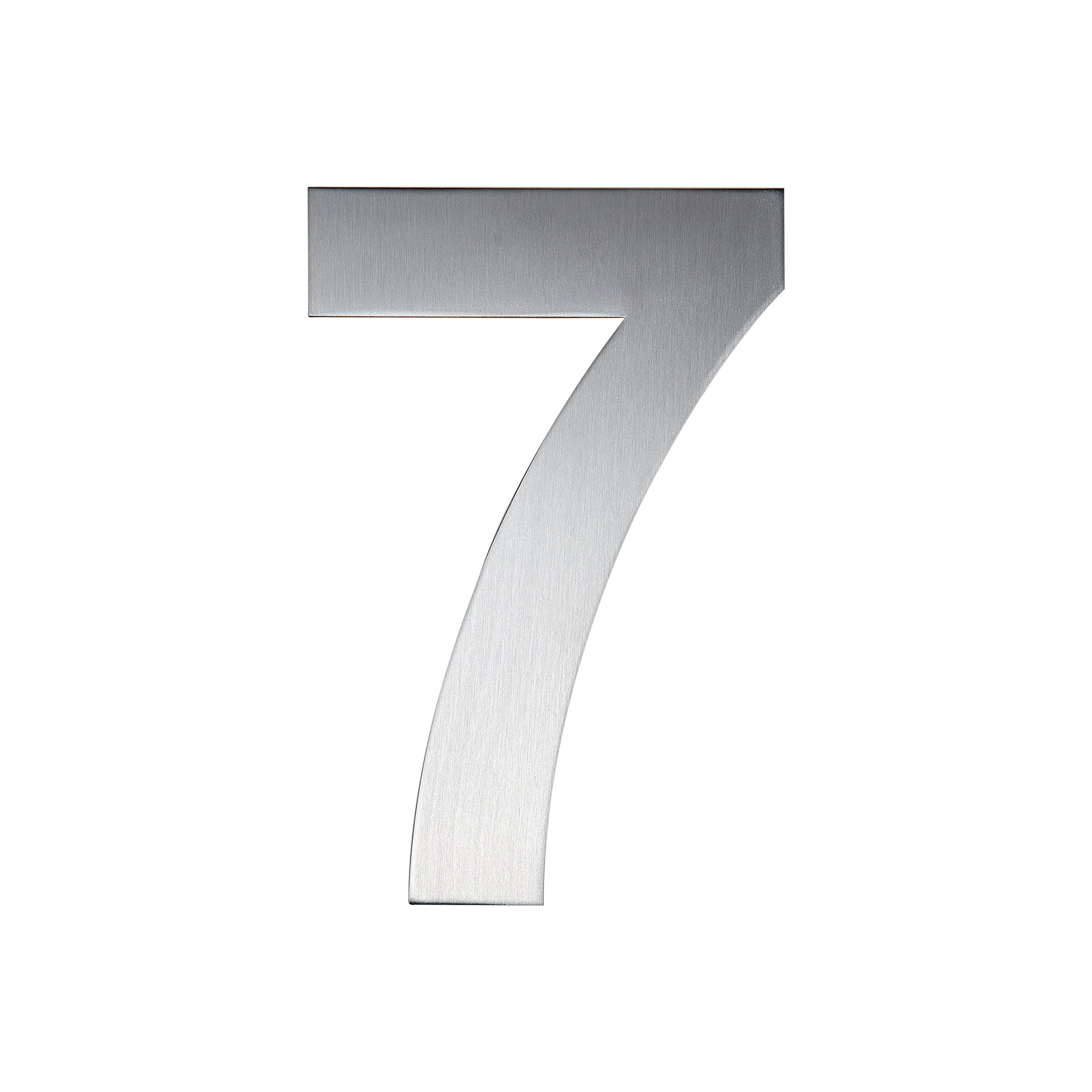QT Modern House Number - EXTRA LARGE 10 Inch - Brushed Stainless Steel (Number 7 Seven), Floating Appearance, Easy to install and made of solid 304