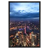 ONE WALL 27x40 Inch Poster Frame, Black Metal
