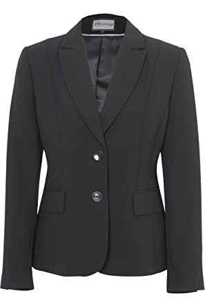 Busy Clothing Womens Black Suit Jacket: Amazon.co.uk: Clothing