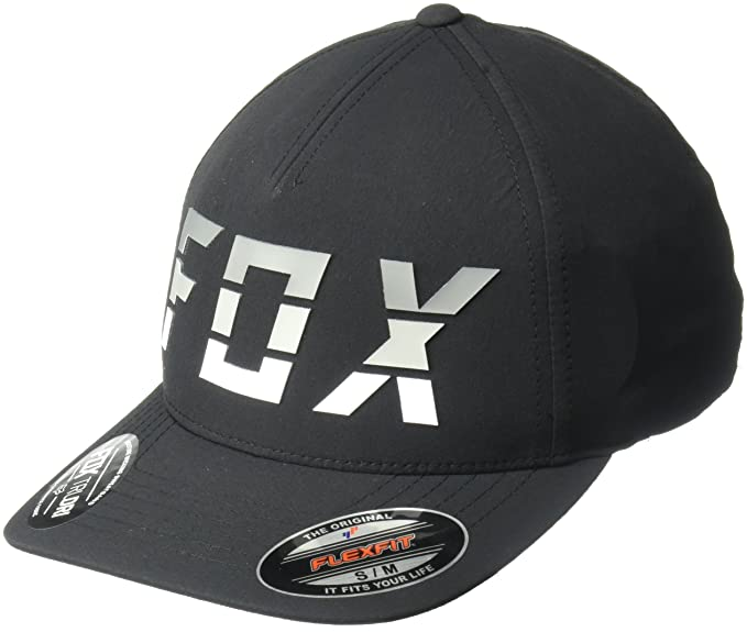Gorra Flexfit visera redondeada Fox Smoke Blower Negro