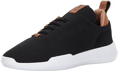 K-Swiss Men's Gen-K Icon Knit Sneaker, Black/Brown, 7