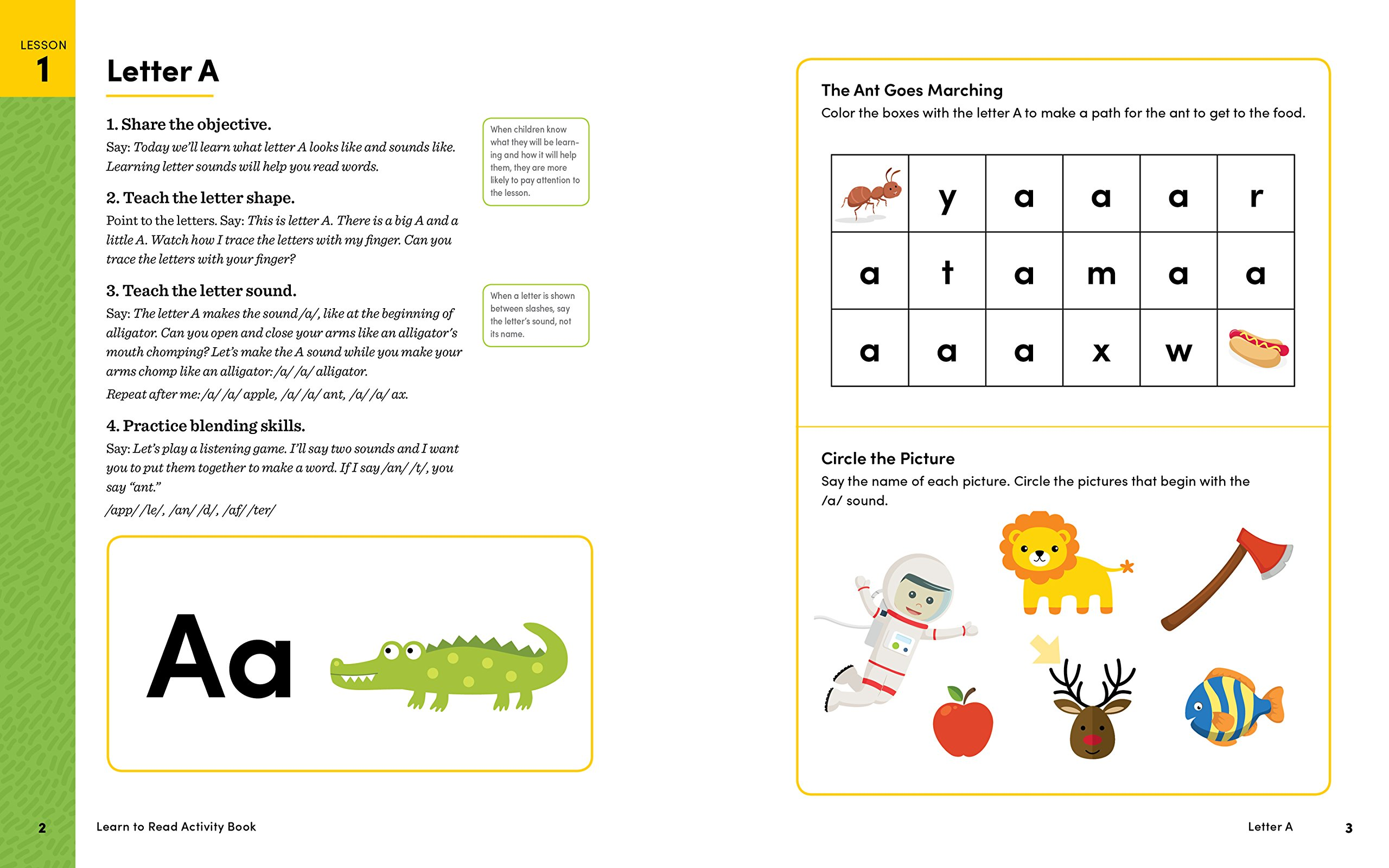 Amazon Learn To Read Activity Book 101 Fun Lessons To Teach