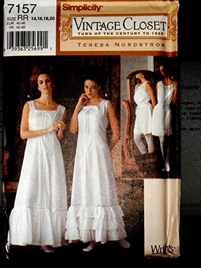 Simplicity 7157 Vintage Closet Undergarments Pattern 14 20