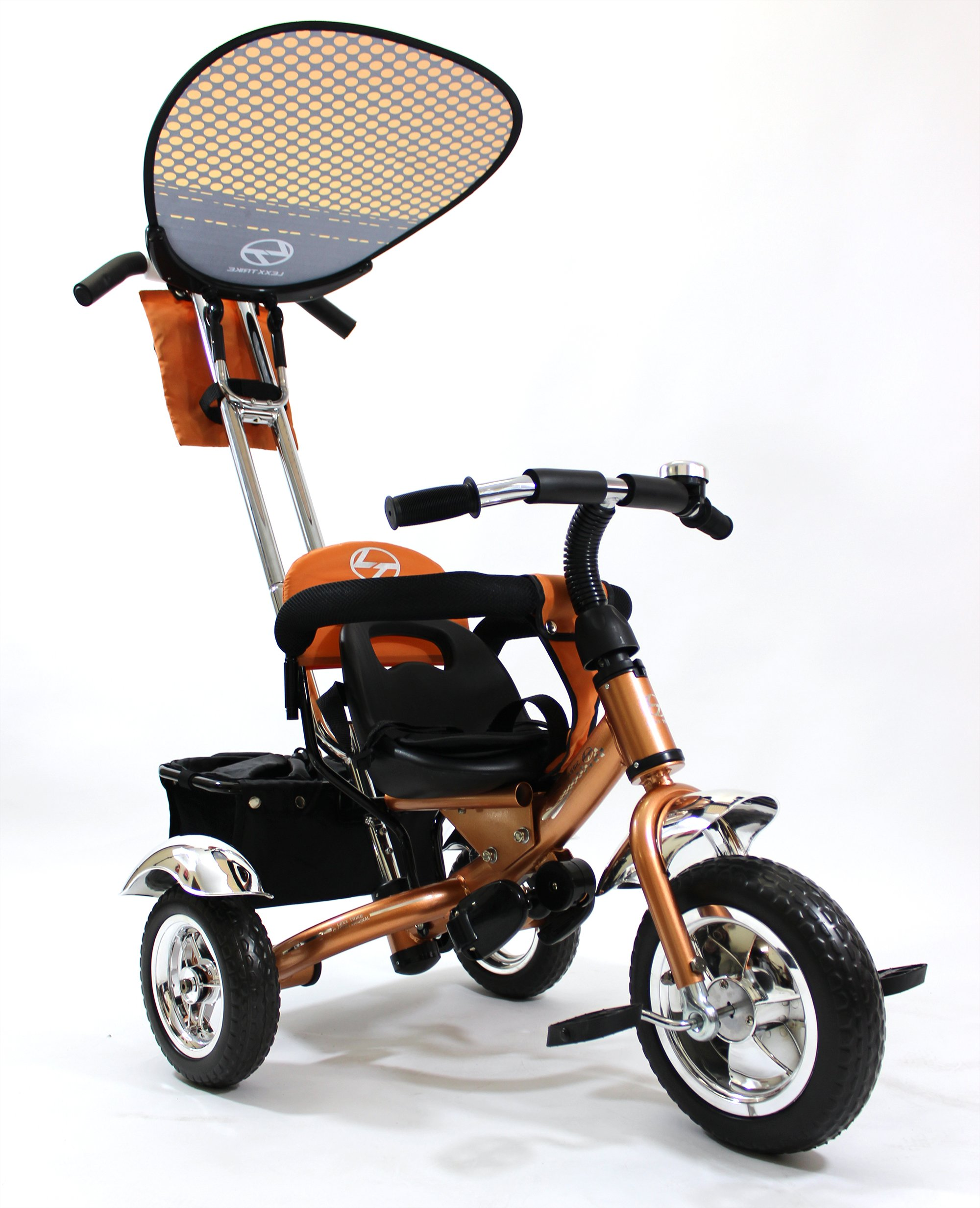 4in1 Lexx Trike Classic Smart Kid's Tricycle 3 Wheel Bike Removable Handle & Canopy NEW GOLD by Lexx Trike