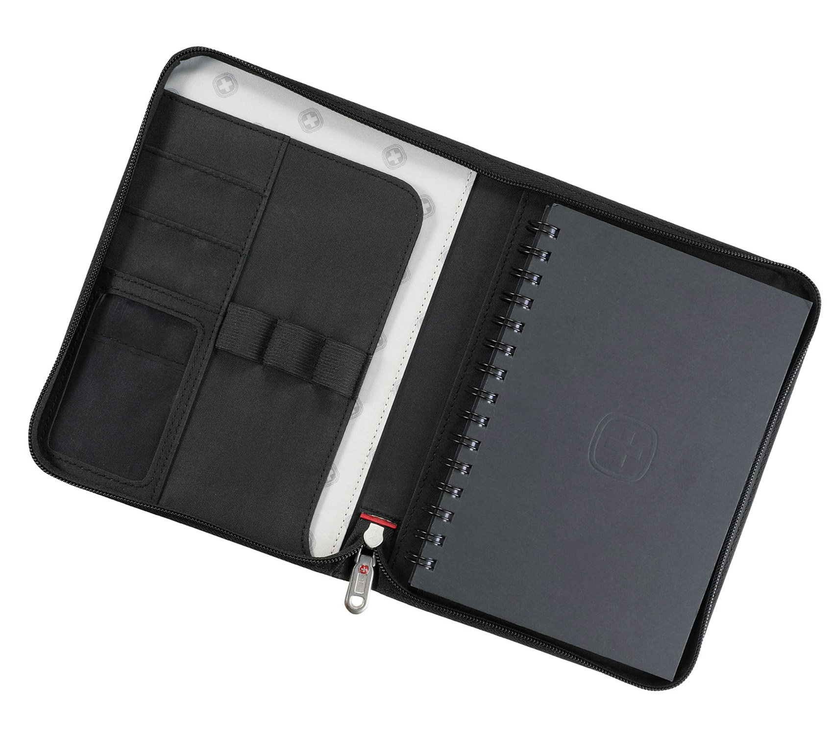 Wenger jr. Zippered padfolio Note pad Black by Wenger