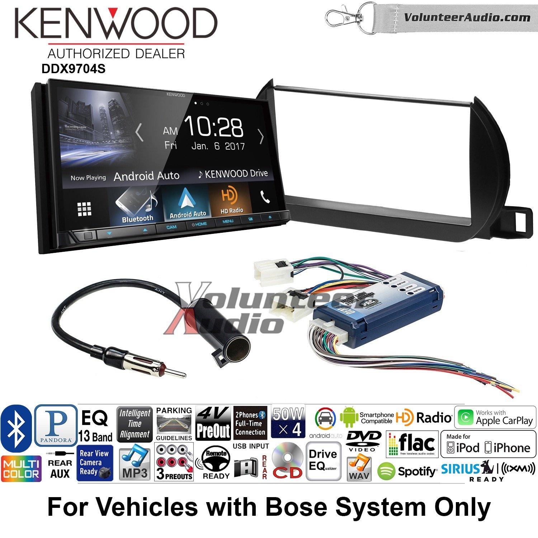ボランティアオーディオKenwood ddx9704sダブルDINラジオインストールキットwith Apple CarPlay Android自動Fits 2002 – 2004年日産アルティマ(with Bose) B07BZRKFPB