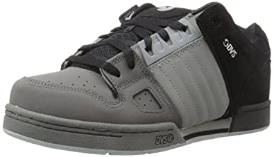 DVS Men's Celsius Skateboarding Shoe, Black Charcoal/Grey Leather Nubuck,  ...