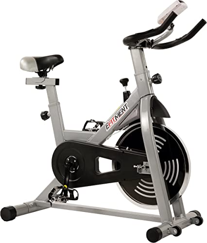 EFITMENT Indoor Cycling Exercise Bike w 29 lb Flywheel, Belt Drive, LCD Monitor with Pulse and Tablet Holder - IC029 IC029