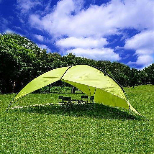 Playa Toldo, Oxking Pop Up tienda de campaña grande Triangular playa sol refugio Pergola UV Protección Camping pesca Festival tiendas de campaña toldo: Amazon.es: Jardín