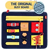 Toddler Busy Board - Montessori Basic Skills Activity Board for Fine Motor Skills & Learn to Dress - Educational…