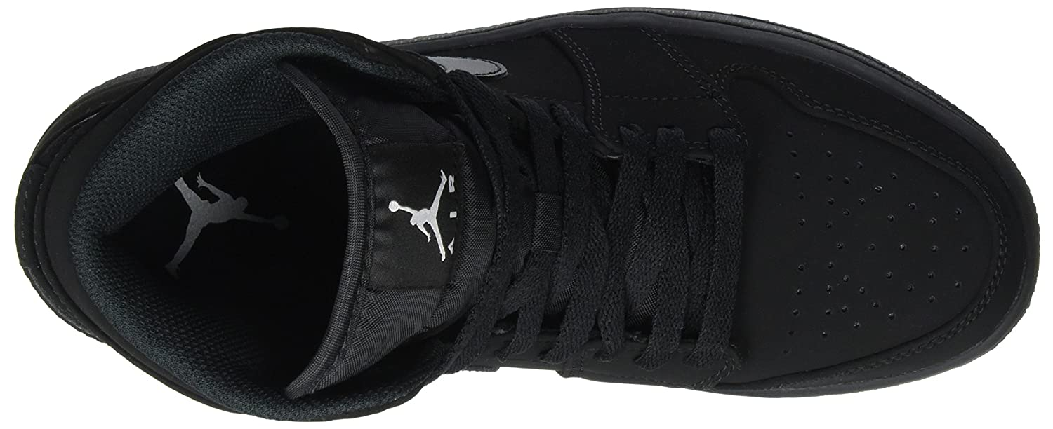 Amazon.com | Nike Mens Air Jordan 1 Retro Mid Basketball Shoe Black/White-Black | Fashion Sneakers
