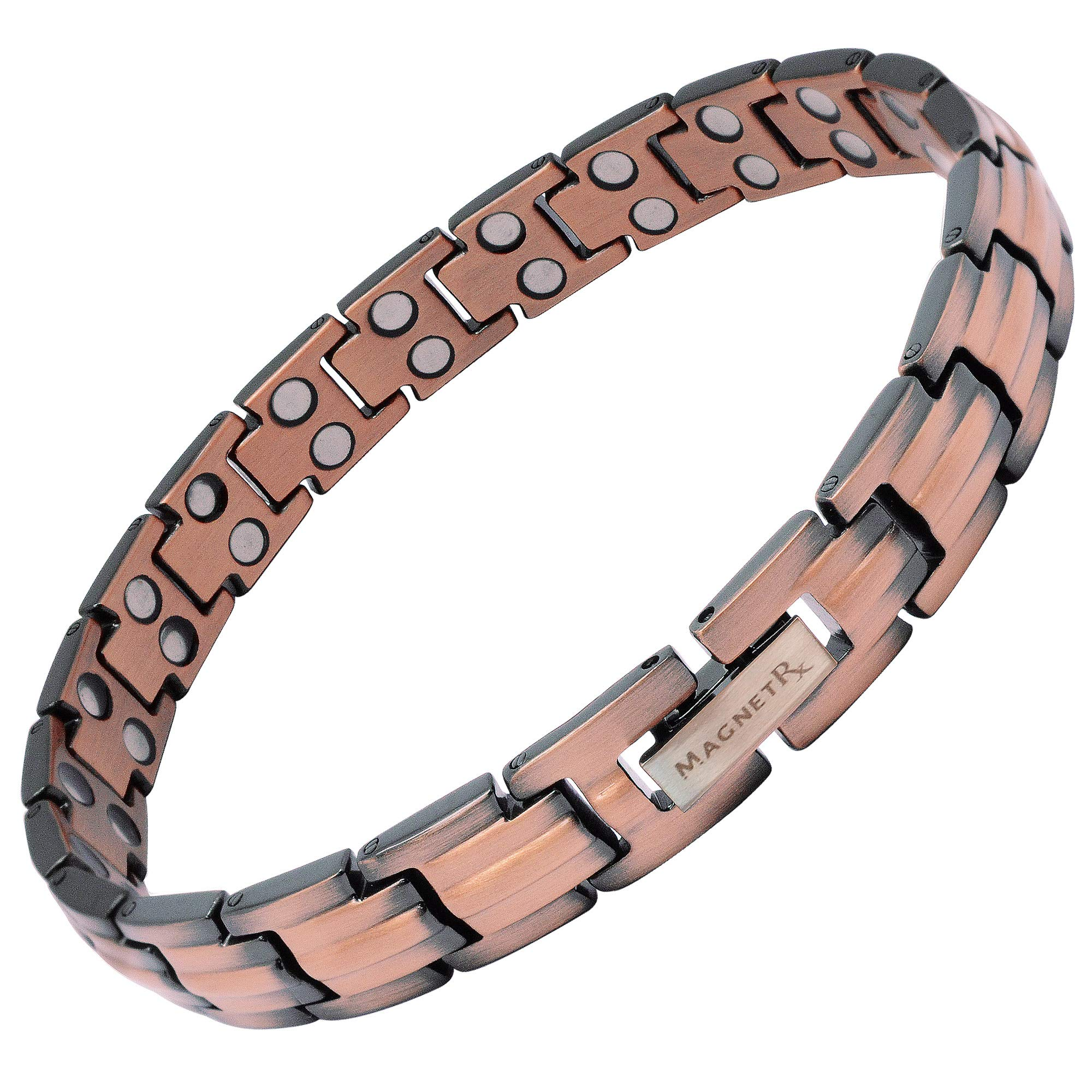 MagnetRX Women's Pure Copper Magnetic Therapy Bracelet Ultra Strength Double Magnet Pain Relief for Arthritis and Carpal Tunnel by MagnetRX