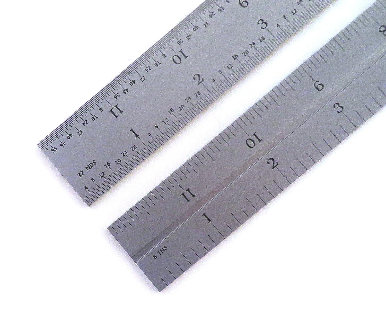 """1//32 1//8 1//16 PEC 12/"""" 4R 4 pc combination machinist square protractor 1//64"""