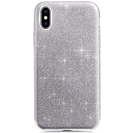 JAWSEU Carcasa iPhone XS MAX, iPhone XS MAX Bling Glitter ...