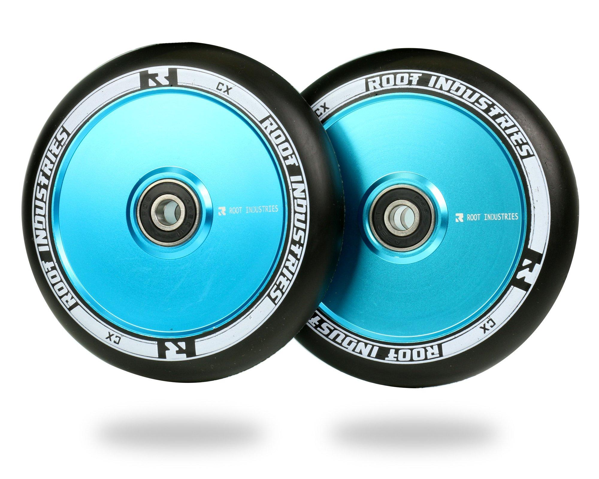Root Industries 110mm AIR Wheels - (Pair) (Black/Sky Blue)