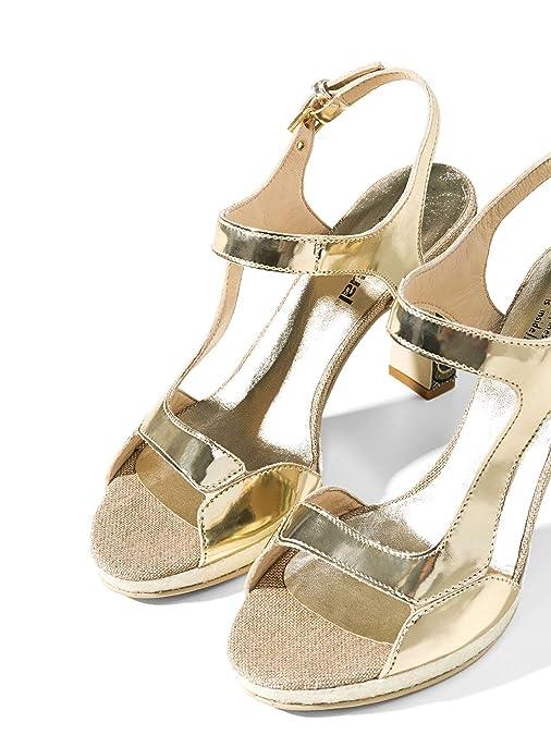 Desigual 72ssga9/1024 scarpe_marilyn Gold Oro Decollete Sandali Donna Tacco Pelle Con Mastercard Amplia Gama De Línea Compra De Descuento Tienda Barata Para g7w4gZRE