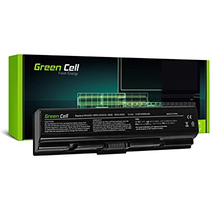 Green Cell® Standard Serie PA3534U-1BRS Batería para Toshiba Satellite A200 A300 A500 L200 L300 L500 Ordenador (6 Celdas 4400mAh 10.8V Negro)
