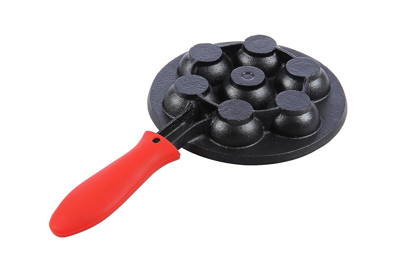 Blue Cast Iron Aebleskiver Pan for Danish Stuffed Pancake Balls by Upstreet