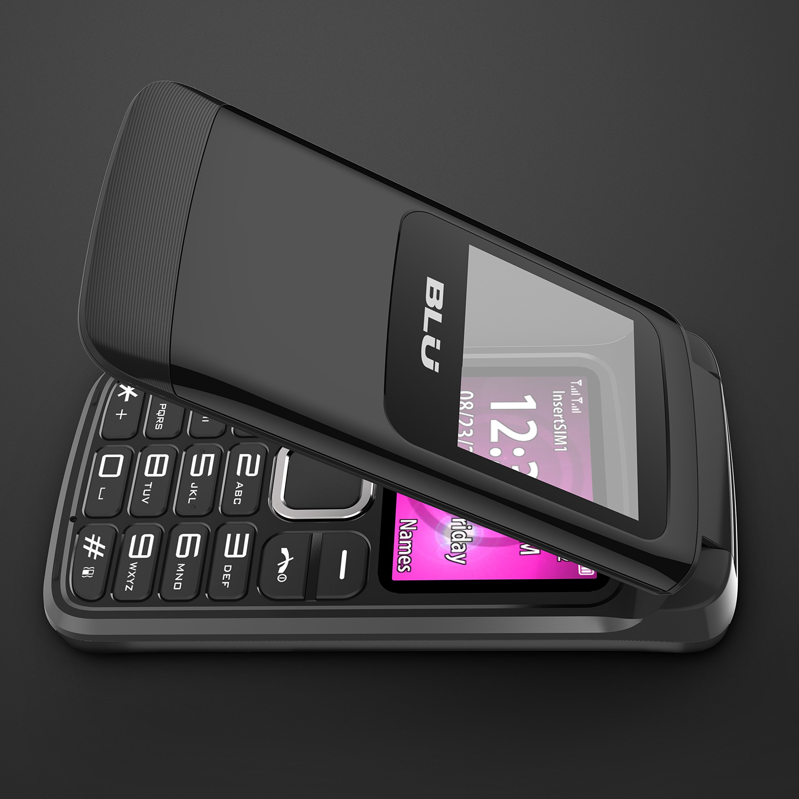 f2904ff418b869 BLU Zoey Flex 3G -Unlocked Dual Sim Flip phone with 3G - Black