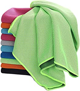 Cooling Towel-Instant Microfiber Cooling Towel For Neck-Summer Cooling Towel For Athletes -Super Absorbent Snap Ice Towel-Soft Chilly Towel for Yoga-Hiking-Running-Workout-Gym-Fitness