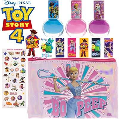 Toy Story 3 Piece Nail Polish with Bonus Nail Stickers and Storing Case, 6 Pack: Toys & Games