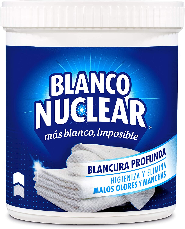 Blanco Nuclear en Polvo Quitamanchas Blanqueante - 450 gr: Amazon ...