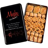 Mughe Gourmet Premium Assorted Baklava Pastry Gift Tin Box (Medium Size) 500g ℮ 1.1lb 32 pcs - Turkish Pistachio, Almond, Wal