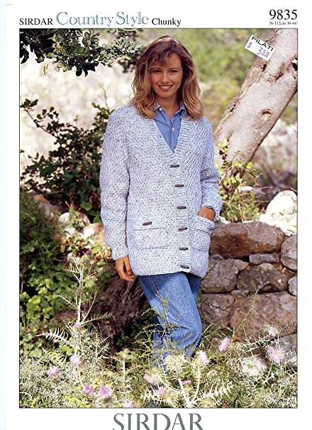 Amazon Sirdar Country Style Chunky Knitting Pattern 9835