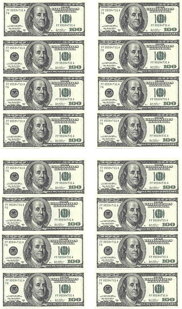En forme de billets de dollars En papier comestible 16/d/écorations pour g/âteau danniversaire