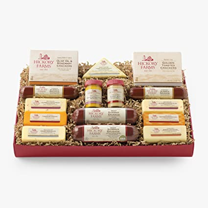 hickory farms meat cheese gift box assortment ca
