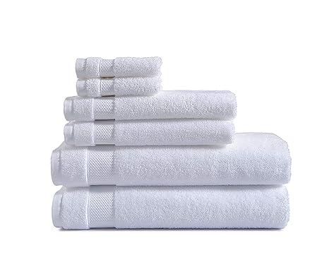 AmazonBasics – Toallas de uso diario, 2 de baño, 2 de mano y 2
