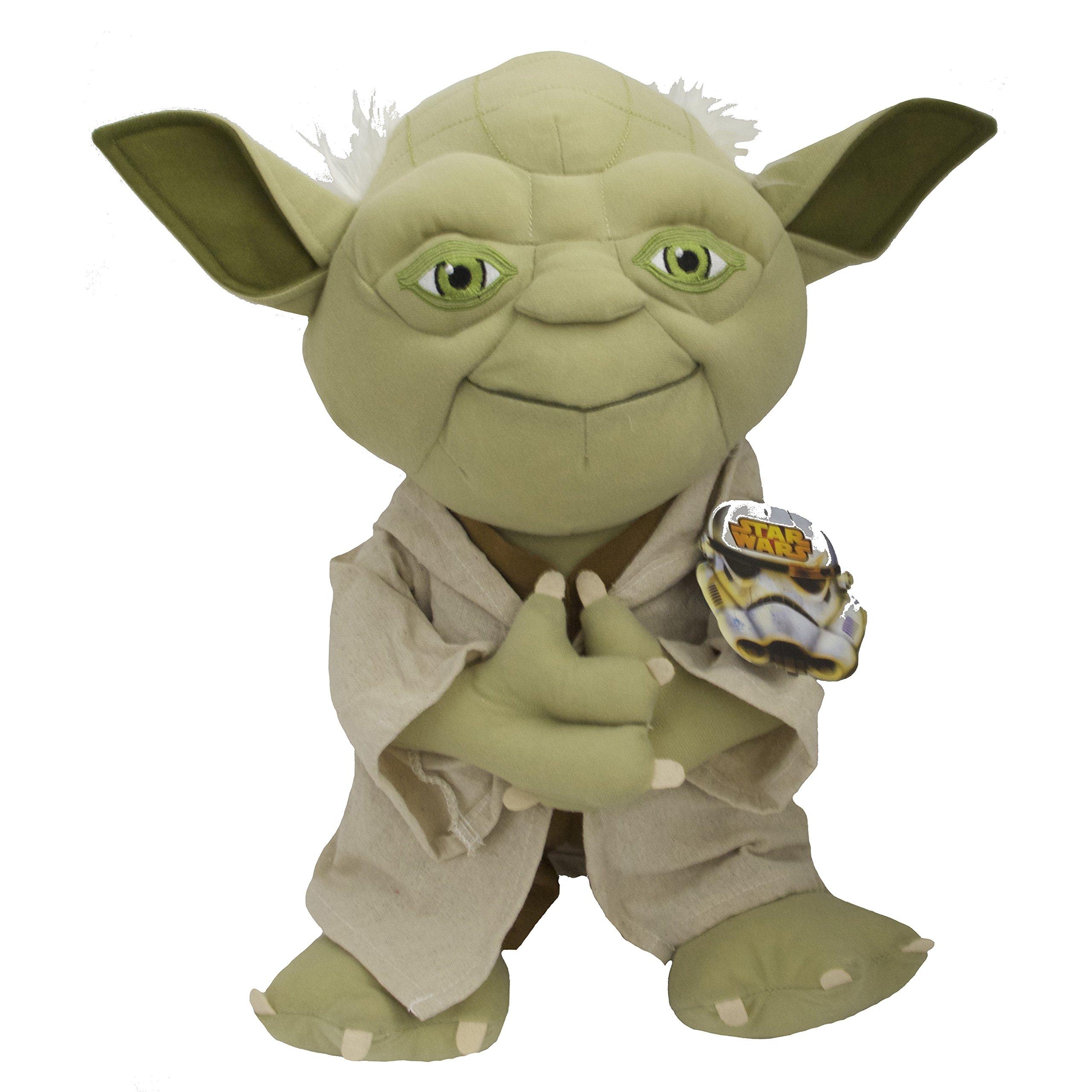 5 Piece Kids Star Wars Themed Comforter Twin Set, Classic Movie Bedding for Star Wars Fans Featuring Darth Vader, R2D2, Luke Skywalker, Grid Pattern, Original Trilogy + Yoda Pillow Doll