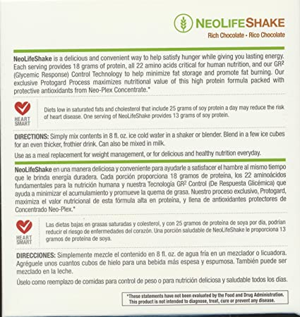 Amazon.com: Neolifeshake Rich Chocolate Box of 15 Packets: Health & Personal Care