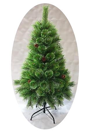500a27c05de15 Árbol de Navidad Artificial de Pino con Ramas de Puntas Abiertas y Soporte  Metálico 120cm-210cm (Verde