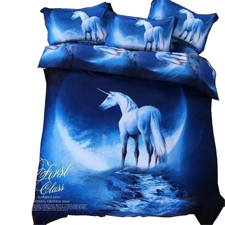 ギャラクシー寝具セット オイルプリントの掛け布団カバーセット 少年少女用のキッズ寝具 ティーンズ用寝具セット ツイン ブルー Galaxycom B01M0Q13DP ツイン|3 3 ツイン