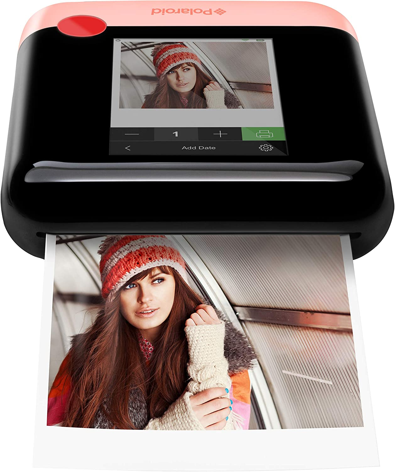 Zink Polaroid WiFi Wireless 3x4 Portable Mobile Photo Printer (Pink) with LCD Touch Screen, Compatible w/ iOS & Android