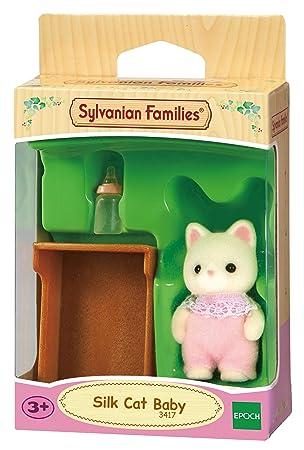 Sylvanian Families - Bebé gato vestido de seda (3535): Amazon.es: Juguetes y juegos