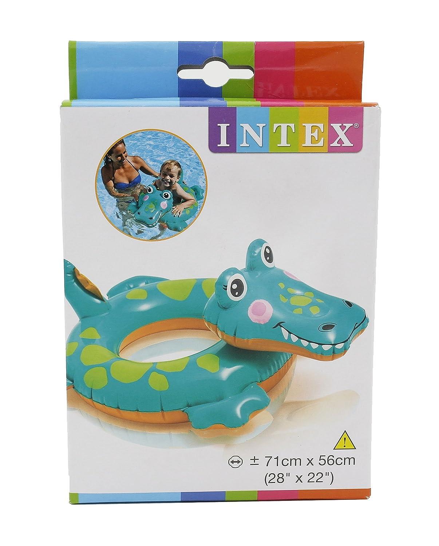 Intex Animal Hinchable flotador piscina flotador forma de piel de cocodrilo: Amazon.es: Deportes y aire libre
