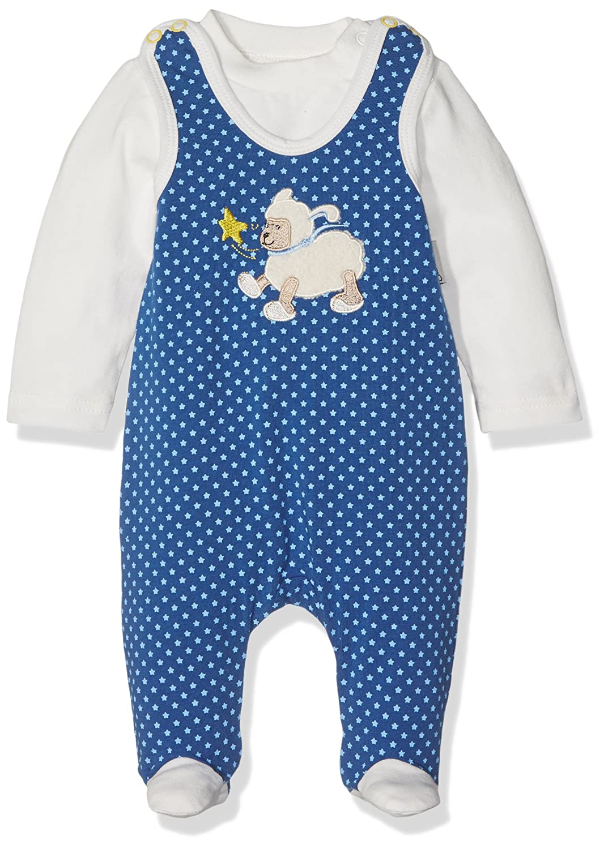 Sterntaler Baby-Jungen Strampler-Set Jersey Stanley, Blau 2601628