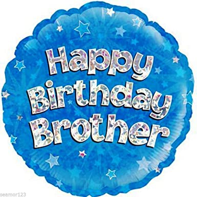 oaktree 18 inch happy birthday brother foil balloon 18 inch blue