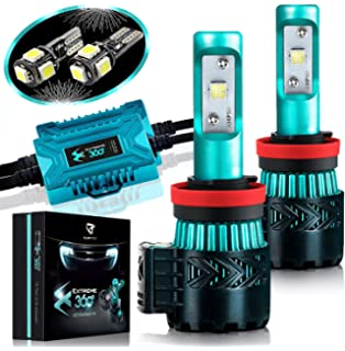 Glowteck LED Headlight Bulbs Conversion Kit – H11(H8/H9) CREE XHP50 Chip
