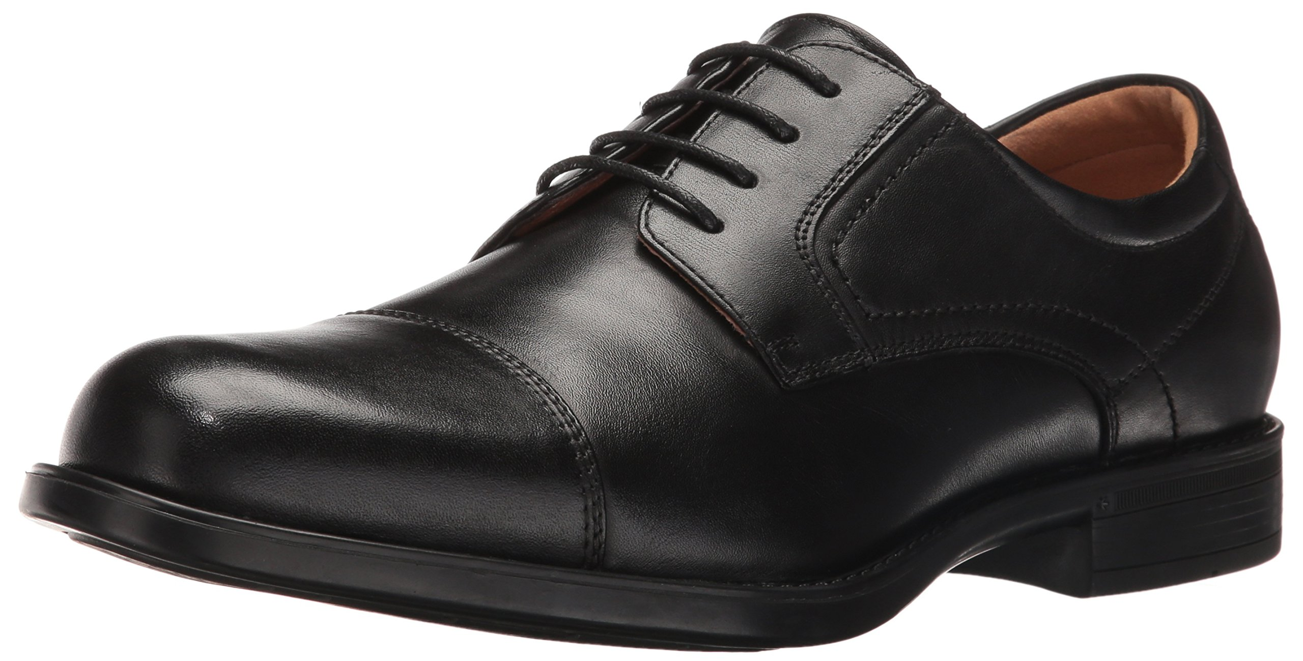 Florsheim Men's Medfield Cap Toe Oxford Dress Shoe, Black, 10.5 Wide by Florsheim